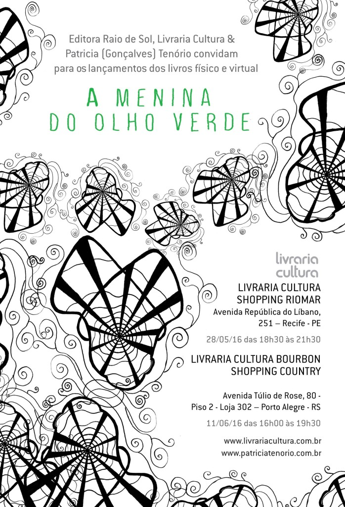 Convite A menina do olho verde - Patricia (Gonçalves) Tenório
