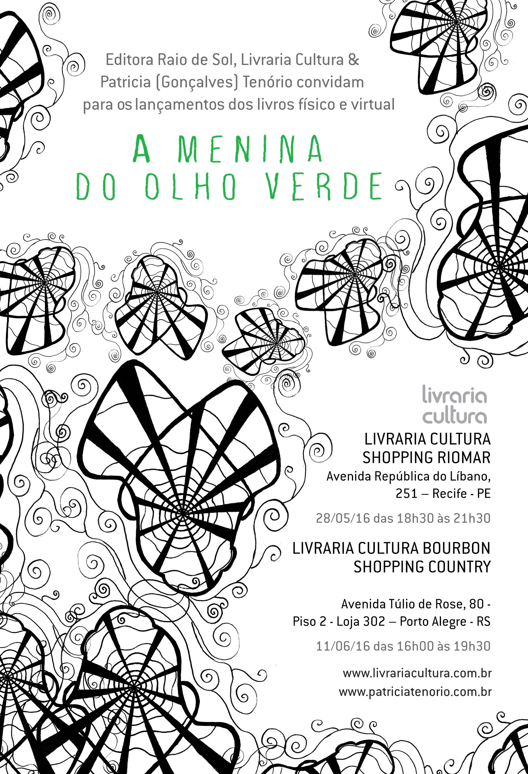 "Convite A menina do olho verde - Patricia (Gonçalves) Tenório. "" 19dd20738ea"