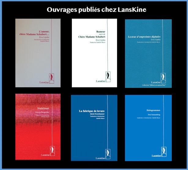 Ouvrages publiés chez Lanskine 30-04-2020 à 23.45